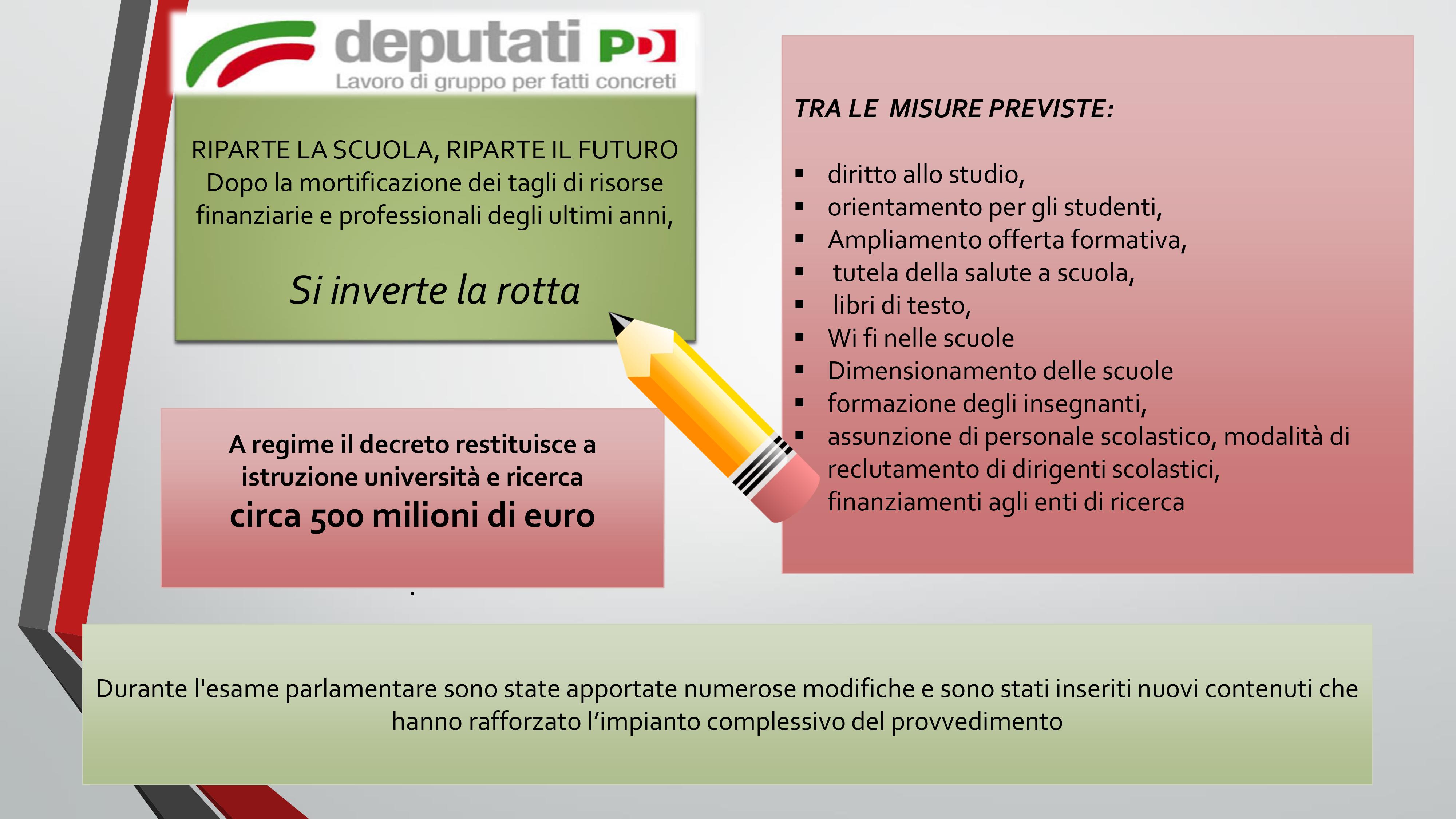 Decreto istruzione deputati pd l italia torna ad for Deputati del pd