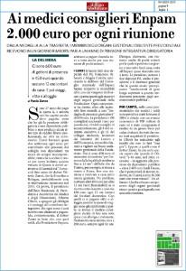 Ai medici consiglieri Enpam 2000 euro per ogni riunione
